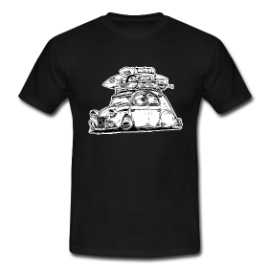 T-Shirt : Hoodride 2cv