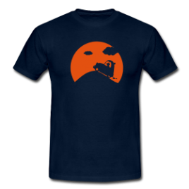 T-Shirt : Pleine lune AZ (2CV)