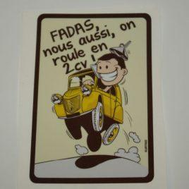 Fadas, nous aussi on roule en 2cv ! jaune