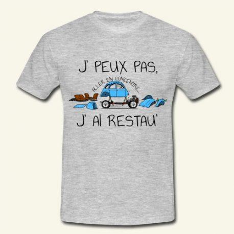T-shirt 2cv j-peux-pas-j-ai-restau-t-shirt-homme