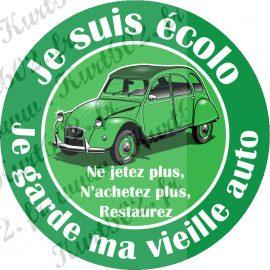 Vignettes Ecolo, je garde ma vieille auto.