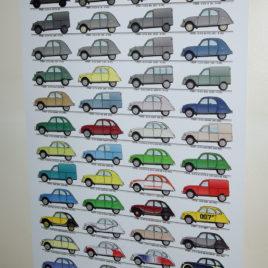 Poster 2CV 1939-1990